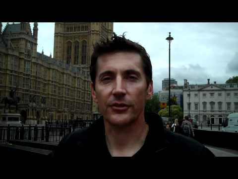 Loren Avedon outside the House of Lords in London England
