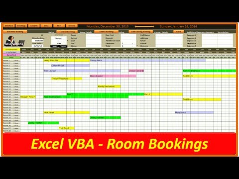 Hotel and Room Bookings - VBA Excel