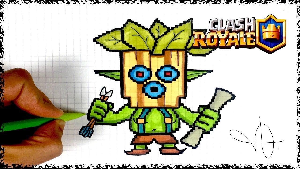 Draw Dart Goblin Pixel Art Clash Royale