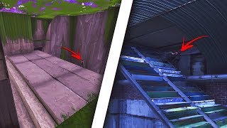 How to get INSIDE the SECRET TUNNEL AREA in Fortnite! Inside secret room! (Fortnite Glitches)