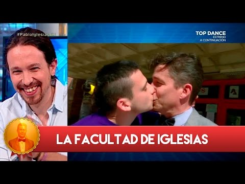 Wolfwang Maier se lleva un beso en la boca gracias a Pablo Iglesias - El Hormiguero 3.0