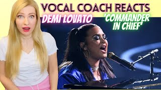 Vocal Coach/Musician Reacts: DEMI LOVATO 'Commander In Chief' Live! In Depth Analysis