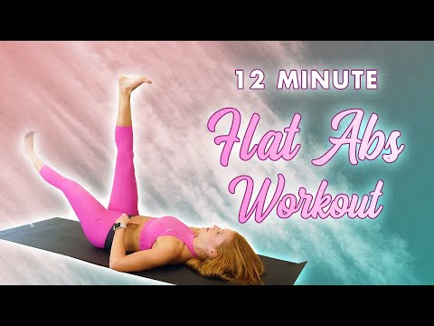 12 Minute Slim Waist, Flat Tummy Pilates | Low Belly, Six Pack, Back Fat, 360 Abs Core Home Workout
