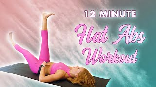 12 Minute Slim Waist, Flat Tummy Pilates   Low Belly, Six Pack, Back Fat, 360 Abs Core Home Workout