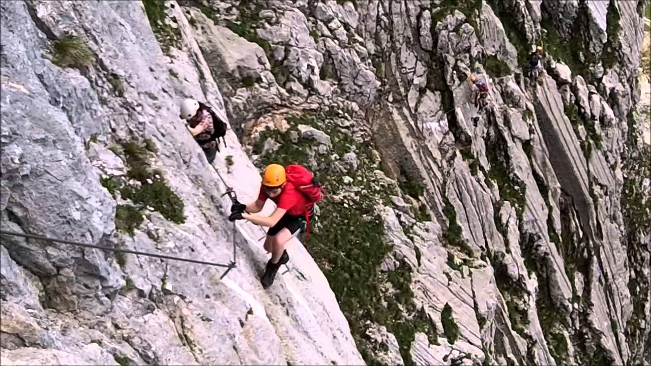 Klettersteig Hochthron : Hochthron klettersteig berchtesgaden 2014 youtube
