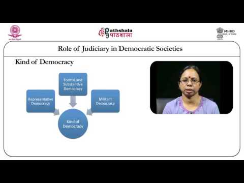 Role of judiciary in democratic societies (law)