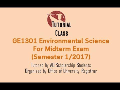 GE1301 Environmental Science  For Midterm Exam (Semester 1/2017)
