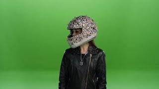 Bedazzled Biker Chick Stock Video