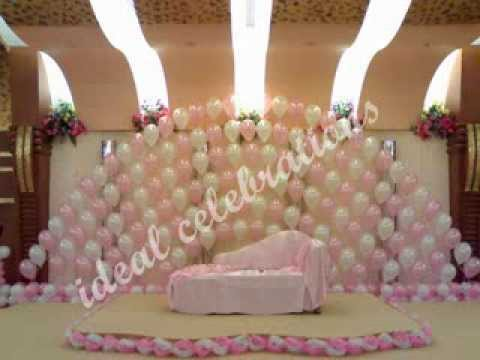 Birthday party balloon decorations secunderabad youtube for Balloon decoration ideas youtube