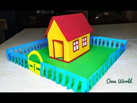 How to make Easy beautiful Paper House -for school project - Paper Craft