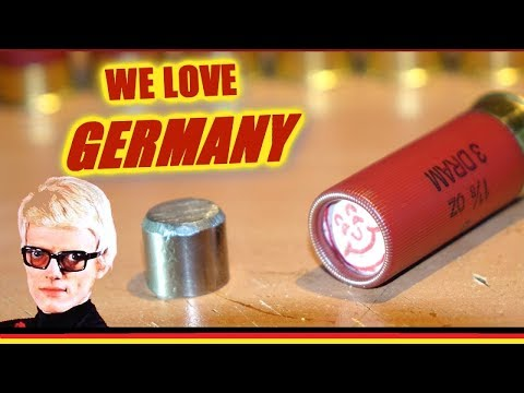 Homemade German  Steel Slugs - Tumbling Terror!