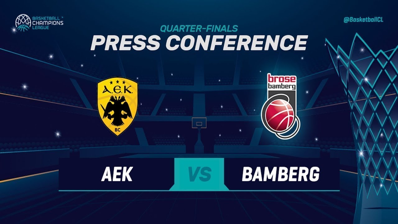 AEK v Brose Bamberg - Press Conference - Basketball Champions League 2018