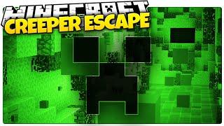Minecraft | CREEPER DEATH ESCAPE | Minecraft Creeper Run Custom Map