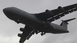 Very Loud C-5 Galaxy Landing!