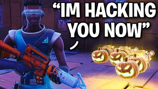I met a dangerous HACKER... 😳🤯 (Scammer Get Scammed) Fortnite Save The World