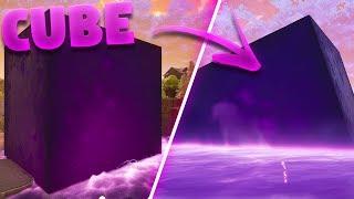 Fortnite Cube Falling Into Loot Lake *Footage*