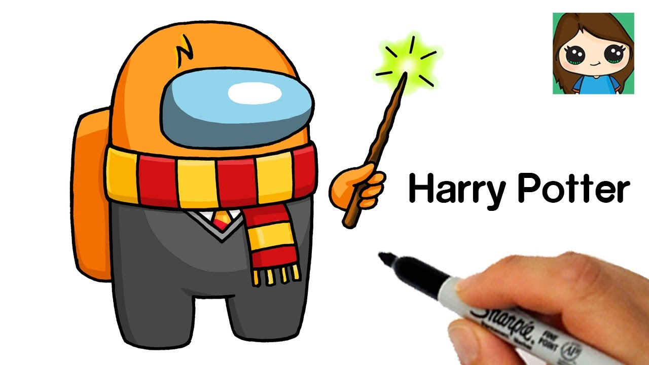 How to Draw AMONG US Crewmate | Harry Potter