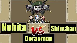 Doraemon vs Shinchan vs Nobita MIni Militia Gameplay😍