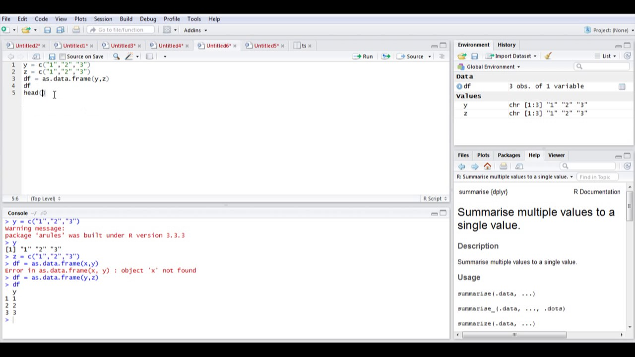 Create Data Frame from List in R - Data Science - YouTube