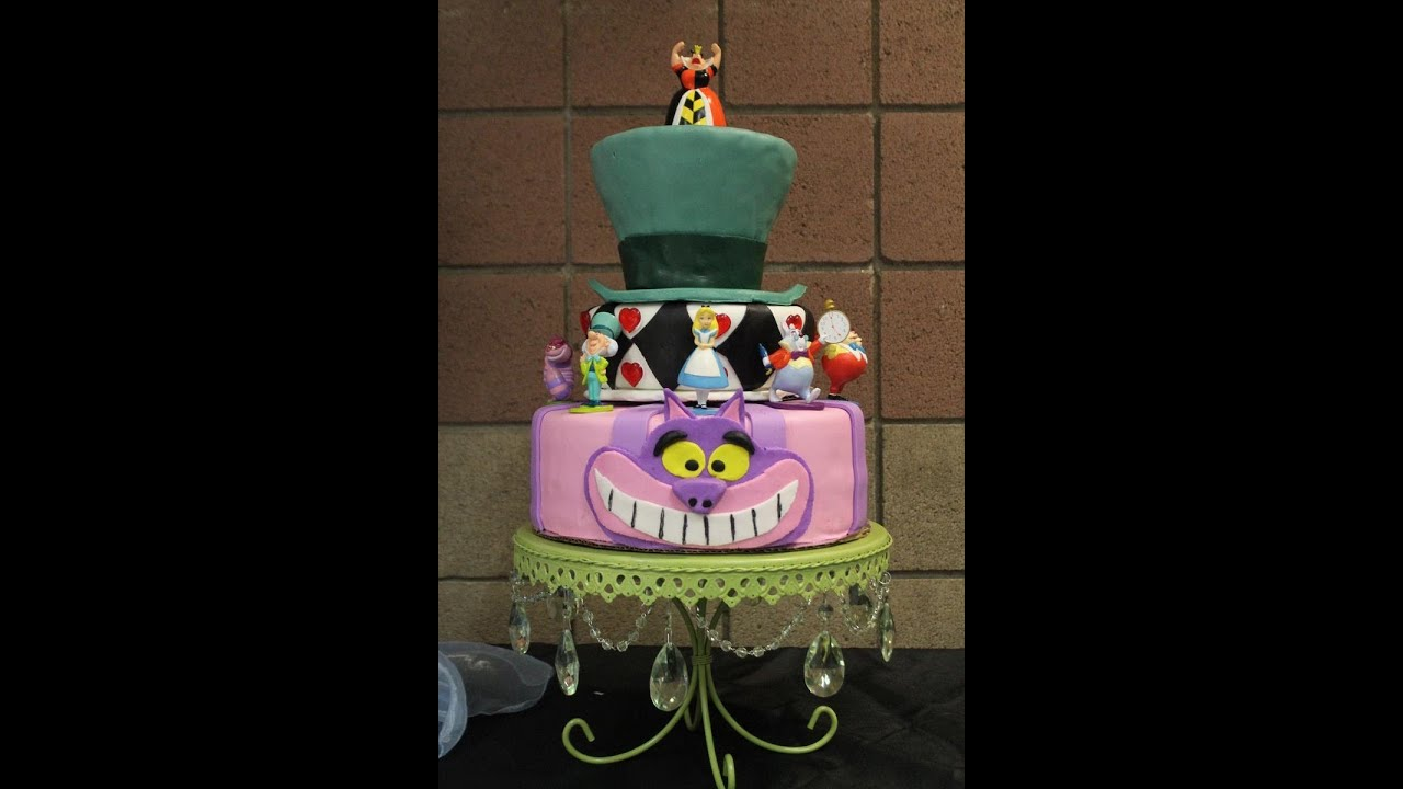 3 Tier Alice In Wonderland Cake Youtube