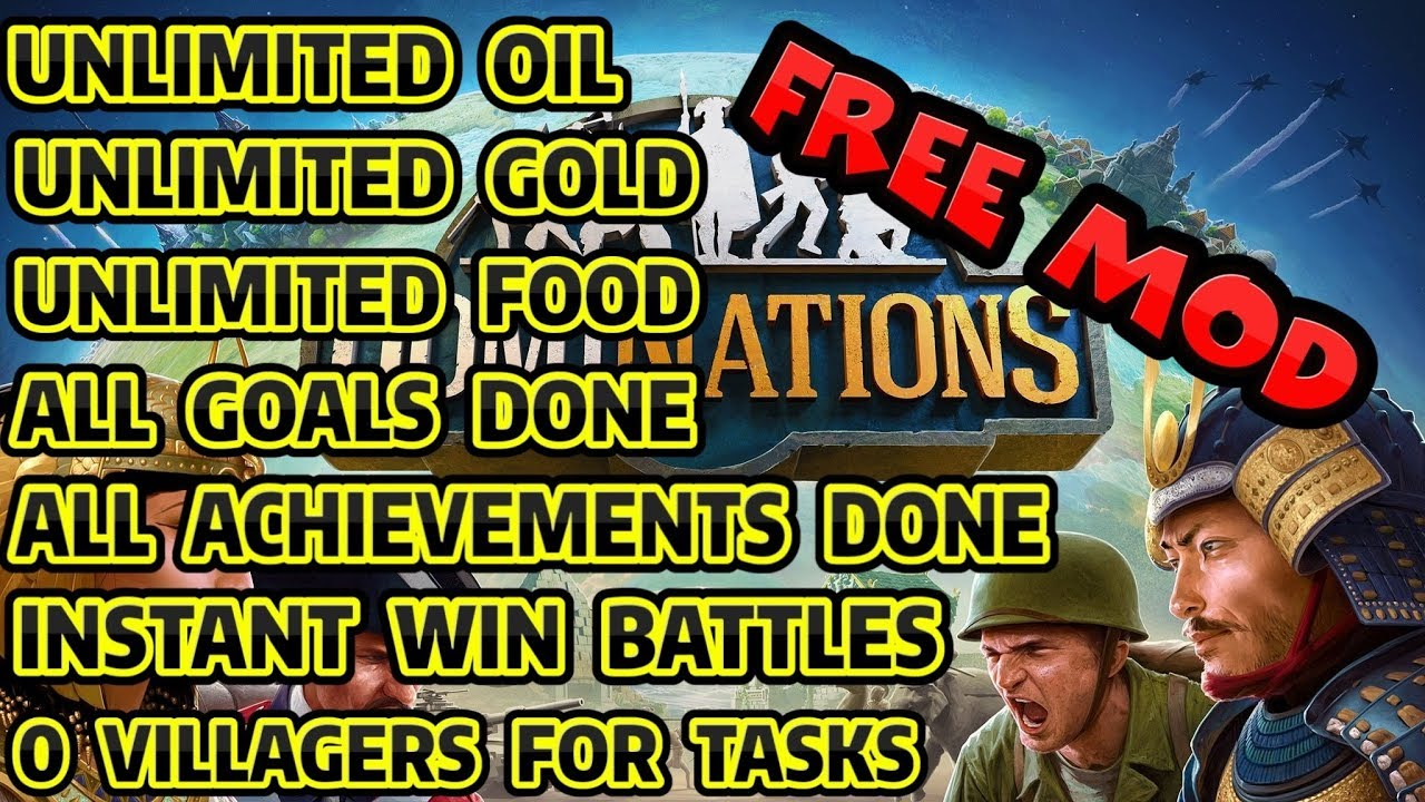 DomiNations Ver. 7.710.710 MOD APK | Unlimited Gold & Food & Oil | & MORE