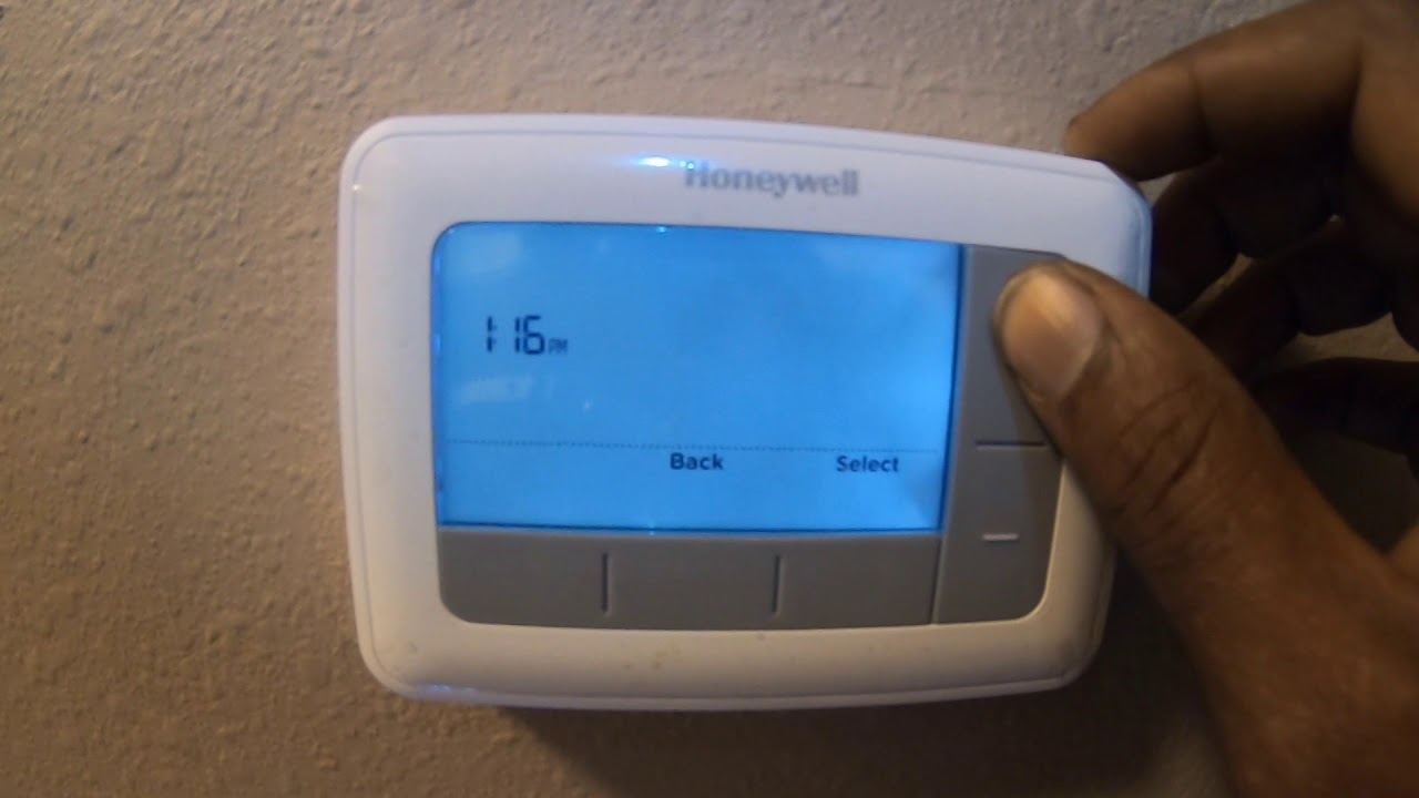 Hvac  Thermostat Installation With Backlight