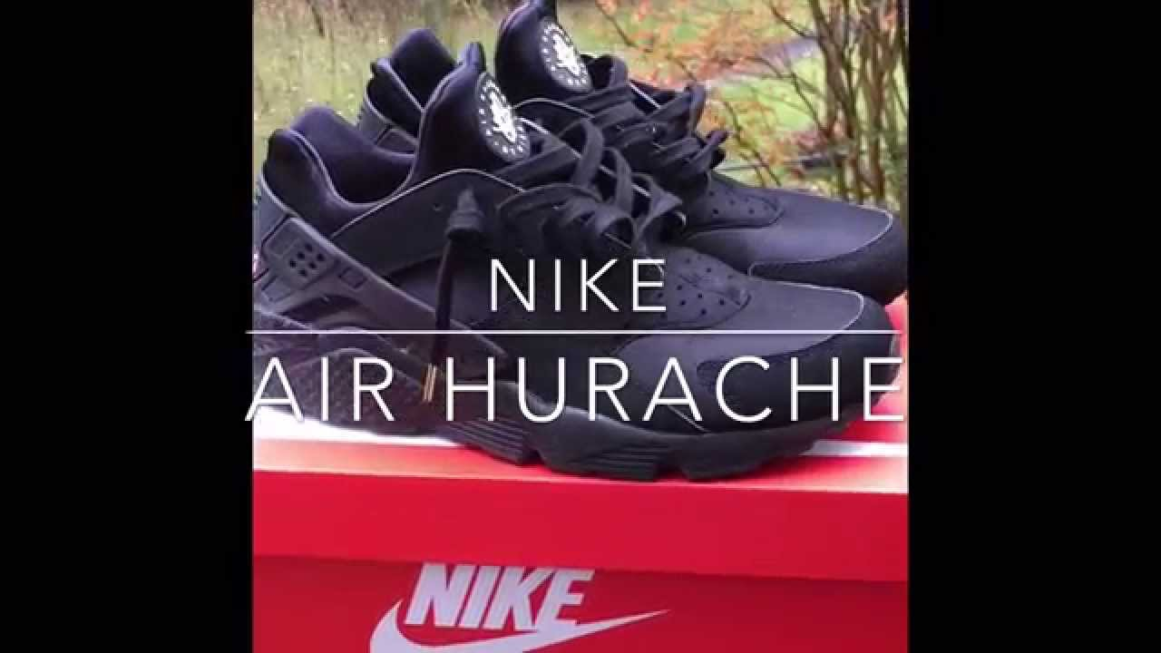2a7acb23b72da Triple Black Nike Air Huarache With Lace Swap And On Foot - YouTube