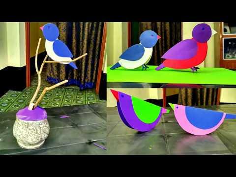 DIY crafts paper birds   how to make paper birds for decoration