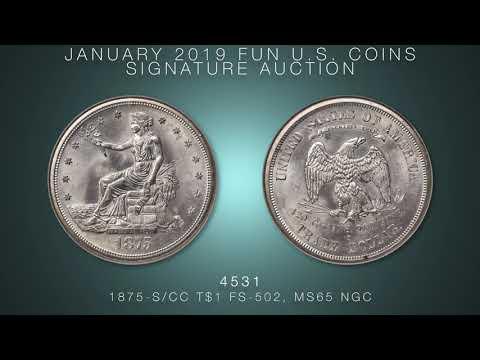 1875-S/CC T$1 FS-502, MS65 NGC.