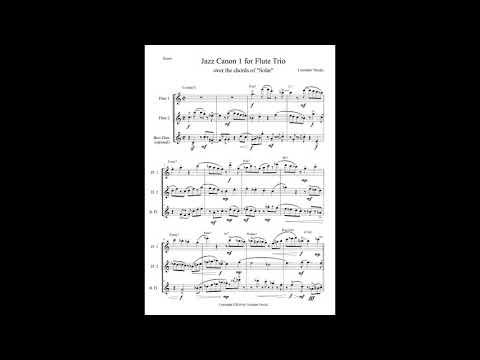 Cristiano Vecchi - Jazz Canon 1 For Flute Trio - Sheet Music