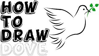 How To Draw A Dove & Olive Branch Step By Step Easy Drawing
