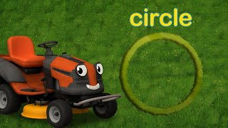 Learn Shapes With Maisie The Lawn Mower | Gecko's Garage | Educational Videos For Children