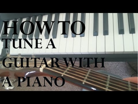 How To Tune Your Guitar With Piano Or Keyboard Easy Guitar Lessons