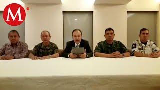Gabinete de Seguridad da mensaje sobre violencia en Culiacán