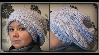 зимняя женская шапка, узор