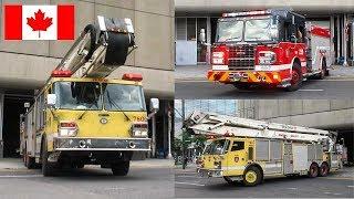 Downtown | Montréal Fire Department (SIM) - Pumper 220 & FAMOUS Tower Ladder 780 (Spare) Responding