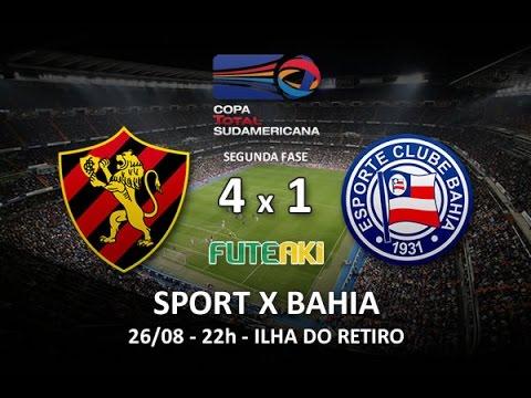Gols de Sport 4 x 1 Bahia pela Copa Sul-Americana