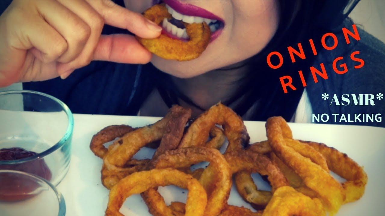 Asmr Tempura Onion Rings Crunchy Crispy Eating Sounds No Talking Christianna Asmr