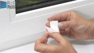 Plisa - Mocowanie Klejone Do Ramy Okna Płaskie