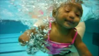 Haniah Swims:  Underwater Fun -- 041715