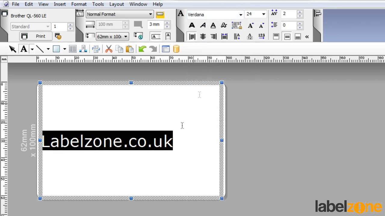 Brother P Touch Editor Tutorial How To Making A Textbox Youtube