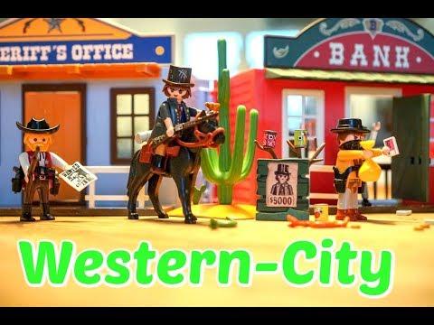 PLAYMOBIL 70012 MITNEHM WESTERNCITY Und 70013 WESTERNKUTSCHE Western Neuheit Kinder Spielzeugwelt