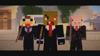 """Ограбление банка в майнкрафте - отрывок из Minecraft сериала """"Идеальное ограбление"""""""