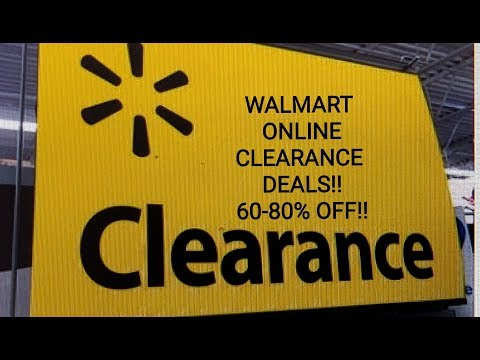 WALMART ONLINE CLEARANCE DEALS! 60-80% OFF!!