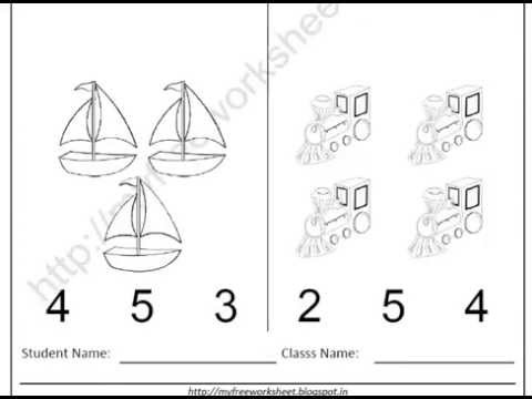 Worksheets Worksheets For Nursery free printable worksheets for evs nursery children youtube children