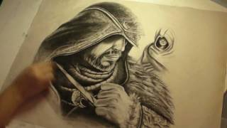 Assassin's Creed - Revelations рисование Эцио и Альтаира(Ускоренная запись процесса создания концепт-арта Эцио Аудиторе и Альтаира Ибн Ла-Ахада из Assassin's Creed - Revelations...., 2011-07-12T16:35:02.000Z)
