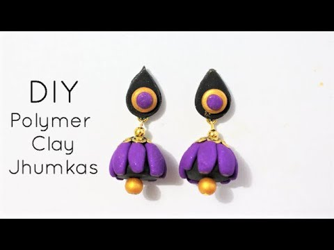 DIY How To Make Polymer Clay Jhumkas