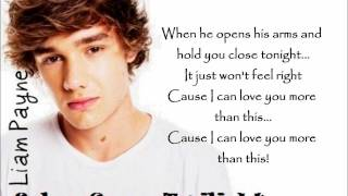 One Direction - More Than This (lyrics+pictures)