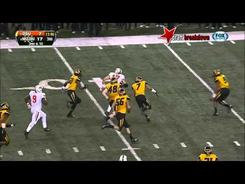 Michael Sam (DE Missouri) vs Oklahoma State, 2014 Cotton Bowl