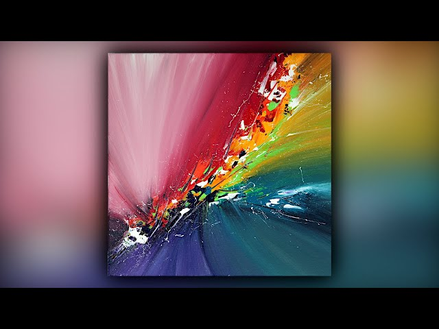 Colorful Abstract Painting / Satisfying / Acrylics / Palette Knife / Demo #095